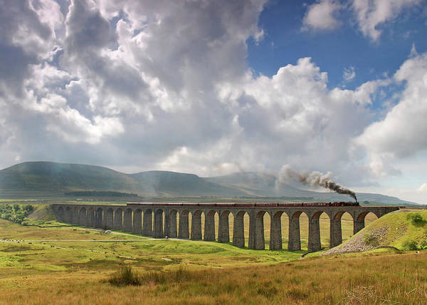 Physical Features Wall Art - Photograph - The Viaduct At Ribblehead by D W Horner