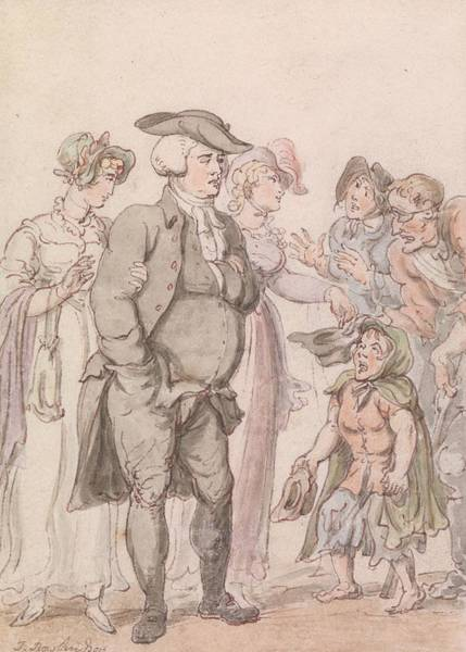Drawing - The Vicar Of Wakefield - Frontispiece by Thomas Rowlandson