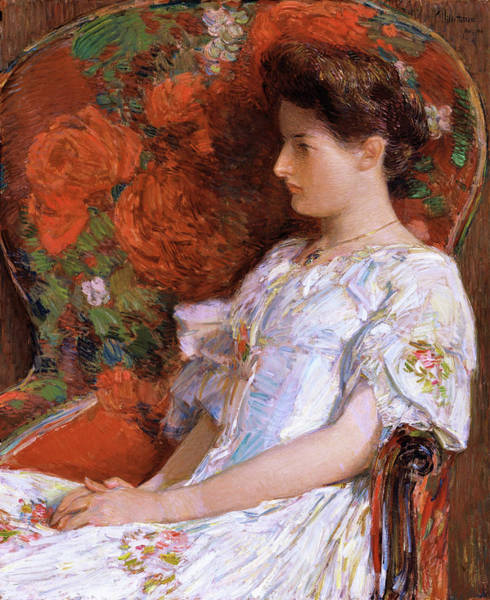 Wall Art - Painting - The Victorian Chair - Digital Remastered Edition by Frederick Childe Hassam