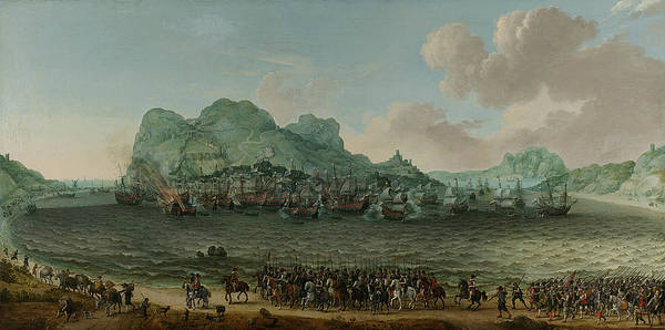 Painting - The Victory Over The Spaniards Near Gibraltar by Adam Willaerts