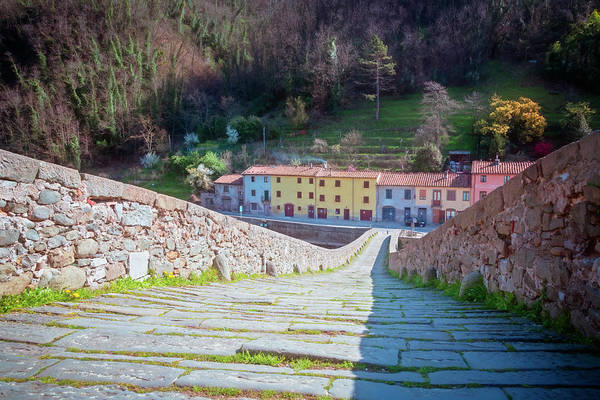 Photograph - The View Down Devil's Bridge In Borgo A Mozzano Italy by Joan Carroll