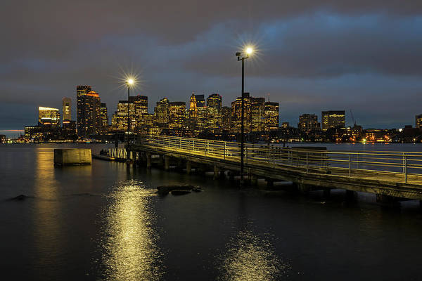 Photograph - The View From The East Boston Waterfront Boston Ma Skyline Pier by Toby McGuire