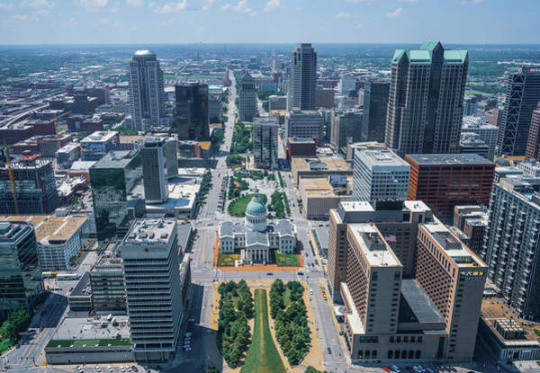 Wall Art - Photograph - The View Of St Louis From The Arch  by Robert Clark