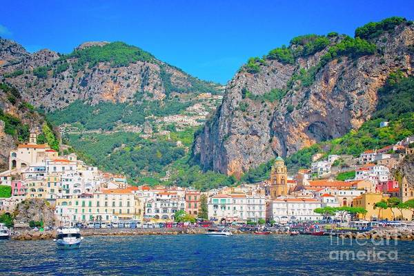 Photograph - The Village Of Amalfi - Italy by Mary Machare