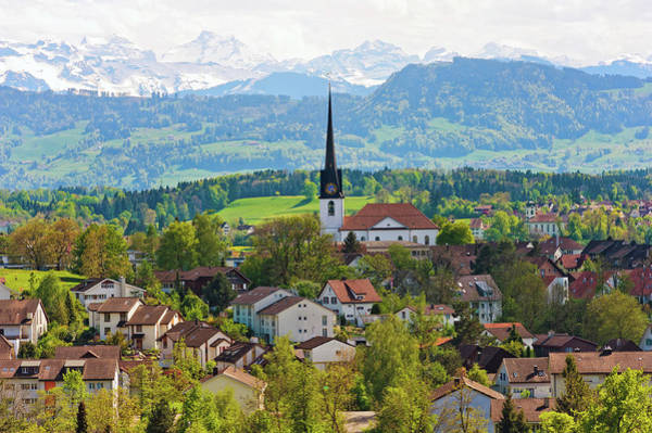 Church Photograph - The Village Of Gossau by Picture By Tambako The Jaguar