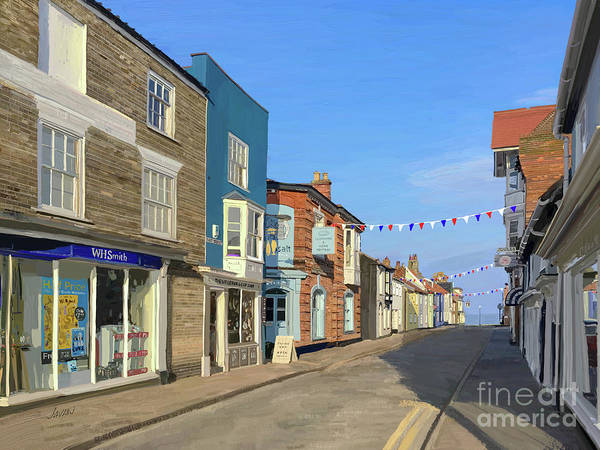 Andrew Jackson Wall Art - Painting - The Village Of Southwold In Suffolk Engand by Andrew Jackson