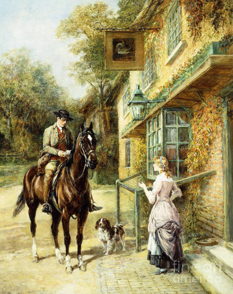 Reins Painting - The Village Postman by Heywood Hardy