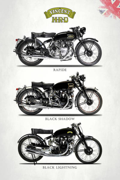 Motorcycle Photograph - The Vincent Collection by Mark Rogan