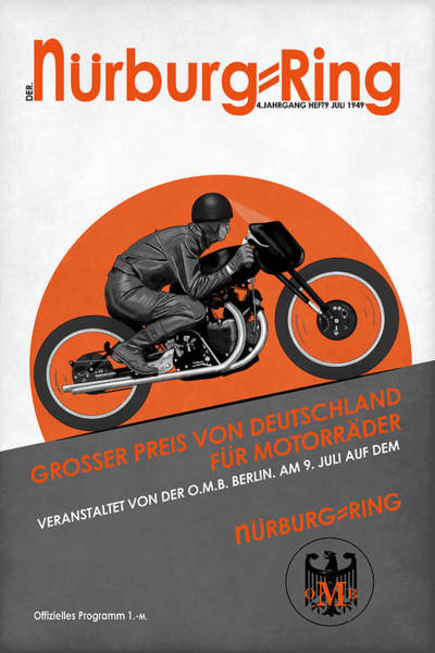 Photograph - The Vintage Grand Prix Of Germany Poster by Mark Rogan
