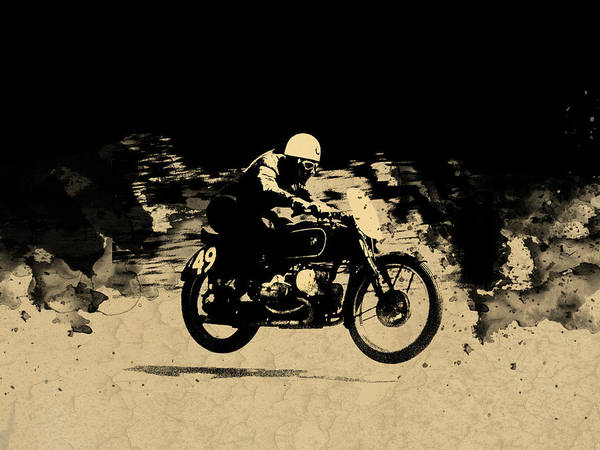 Wall Art - Photograph - The Vintage Motorcycle Racer by Mark Rogan