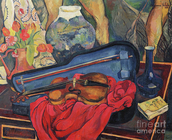 Wall Art - Painting - The Violin Case, 1923  by Marie Clementine Valadon