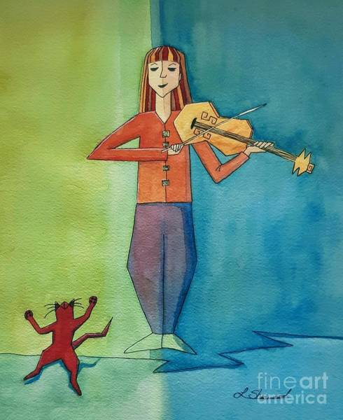 Painting - The Violinist by Lorraine Germaine