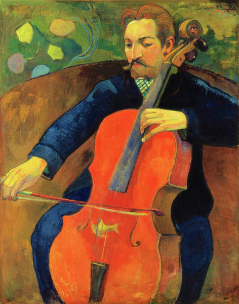 Gauguin Painting - The Violoncellist Schneklud - Digital Remastered Edition by Paul Gauguin