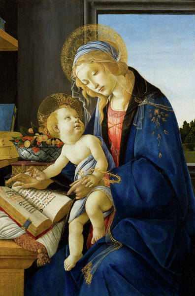 Wall Art - Painting - The Virgin And Child, The Madonna Of The Book by Sandro Botticelli