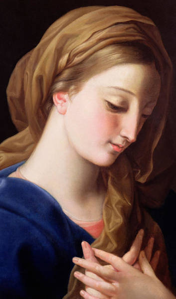 Grace Painting - The Virgin Annunciate by Pompeo Girolamo Batoni