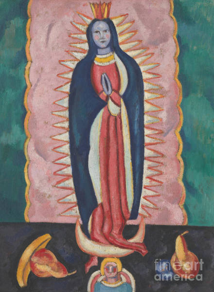 Wall Art - Painting - The Virgin Of Guadalupe, Circa 1918 To 19 by Marsden Hartley