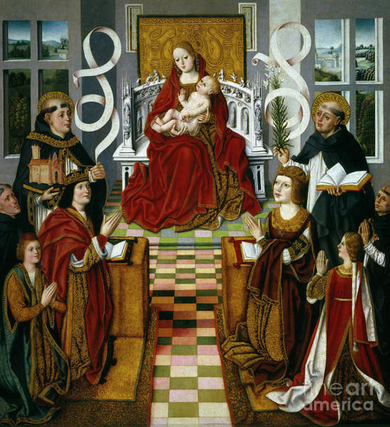 Wall Art - Painting - The Virgin Of The Catholic Kings by Spanish School
