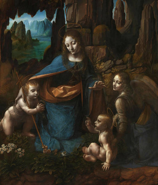Wall Art - Painting - The Virgin Of The Rocks, 1508 by Leonardo da Vinci