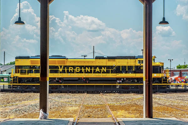 Photograph - The Virginian Railway Unit On The Turntable by Matthew Irvin