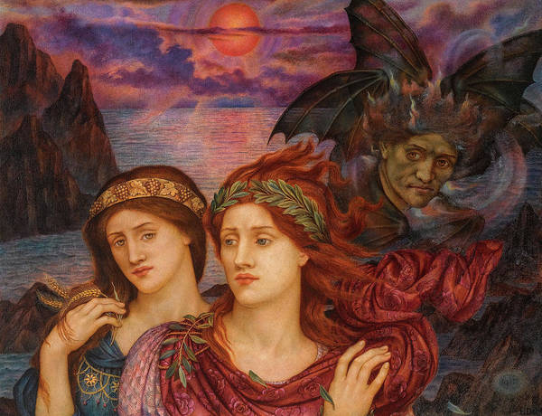 Wall Art - Painting - The Vision, 1914 by Evelyn de Morgan