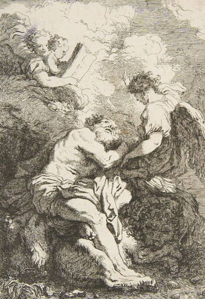 Relief - The Vision Of Saint Jerome by Jean-Honore Fragonard