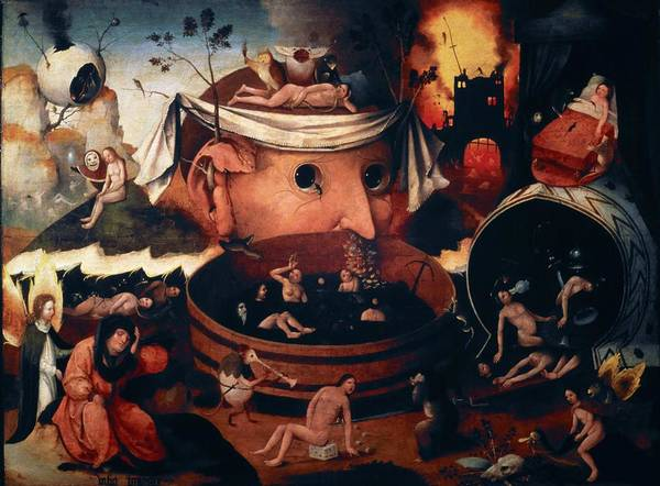 Wall Art - Painting - The Vision Of Tondal, Oil On Tablet, 54 Cm X 72 Cm. by Hieronymus Bosch -c 1450-1516-