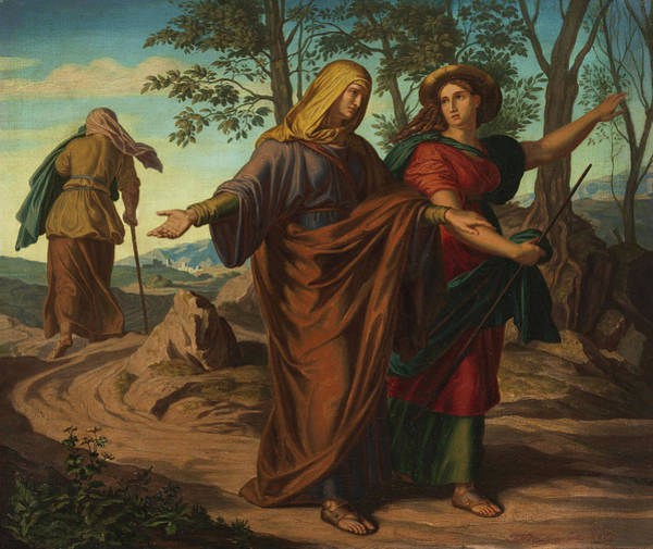 Wall Art - Painting - The Visitation Of Mary And Elizabeth by Julius Schnorr von Carolsfeld