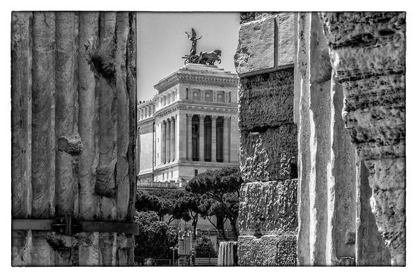Photograph - The Vittorino In Rome by Wolfgang Stocker