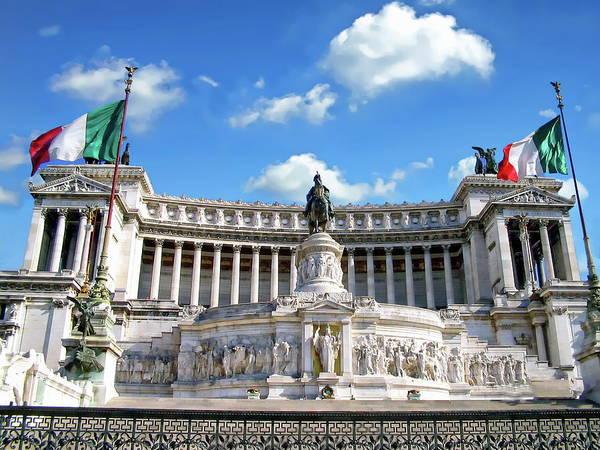 Photograph - The Vittorio Emanuele II Monument by Anthony Dezenzio