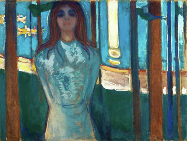 Wall Art - Painting - The Voice, Summer Night - Digital Remastered Edition by Edvard Munch