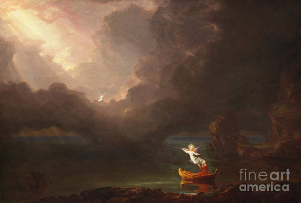 Ascension Painting - The Voyage Of Life, Old Age, 1842 by Thomas Cole