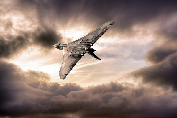 Wall Art - Digital Art - The Vulcan Bomber by J Biggadike