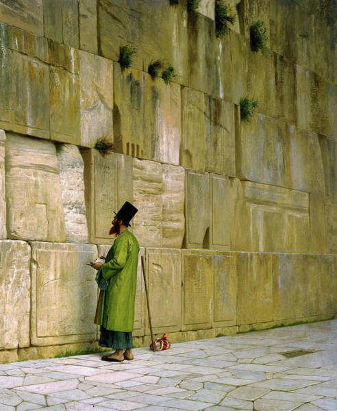 Wall Art - Painting - The Wailing Wall - Digital Remastered Edition by Jean-Leon Gerome