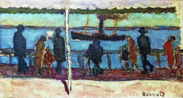 Avenue Painting - The Walk By The River - Digital Remastered Edition by Pierre Bonnard