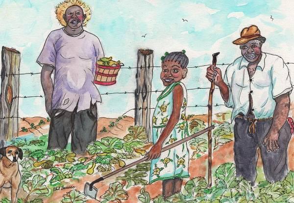 Painting - The Washington's - Our Neighbors On The Farm by Philip Bracco