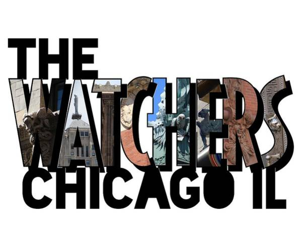 Photograph - The Watchers Of Chicago Illinois Big Letter by Colleen Cornelius