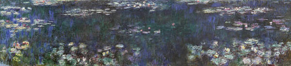Wall Art - Painting - The Water Lilies - Green Reflections - Digital Remastered Edition by Claude Monet