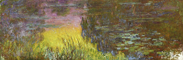 Wall Art - Painting - The Water Lilies, Setting Sun - Digital Remastered Edition by Claude Monet