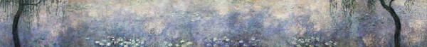 Wall Art - Painting - The Water Lilies, The Two Willows - Digital Remastered Edition by Claude Monet