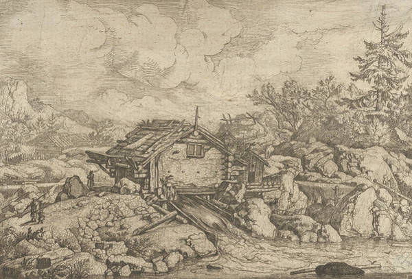 Wall Art - Relief - The Watermill  by Allaert van Everdingen