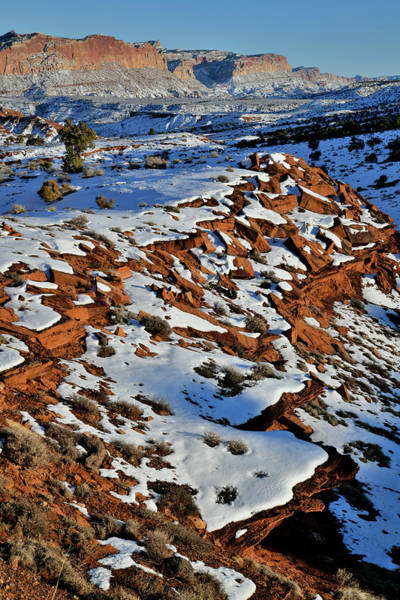 Photograph - The Waterpocketfold Of Capitol Reef by Ray Mathis