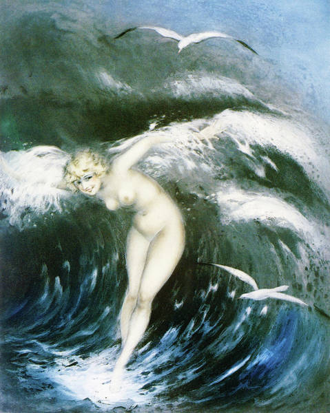Wall Art - Painting - The Wave - Digital Remastered Edition by Louis Icart