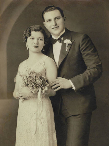 Photograph - The Wedding - After Restoration by Susan Molnar
