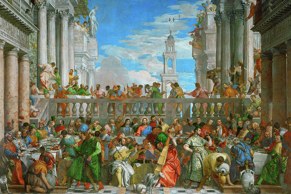 Wall Art - Painting - The Wedding At Cana, 1563 by Paolo Veronese
