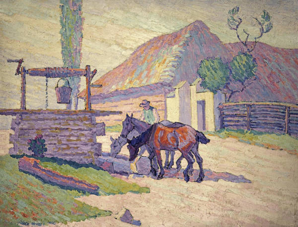 Wall Art - Painting - The Well At Mydlow, Poland, 1922 by Robert Bevan