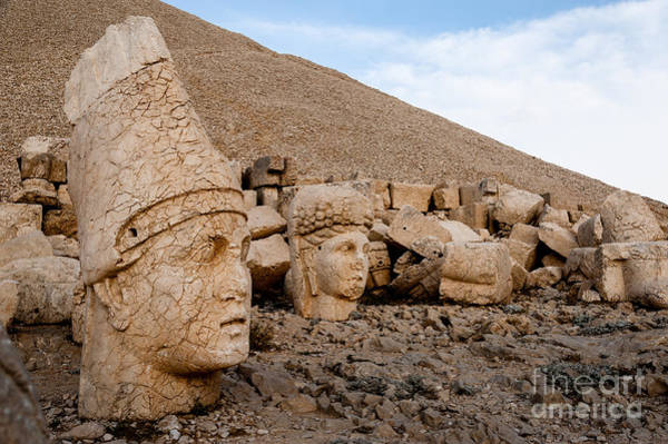 East Asia Wall Art - Photograph - The West Terrace Of Mount Nemrut With by Cornfield