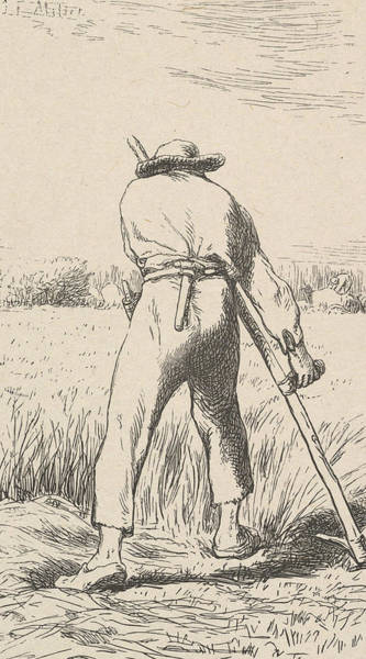 Relief - The Wheat Reaper by Jean-Francois Millet