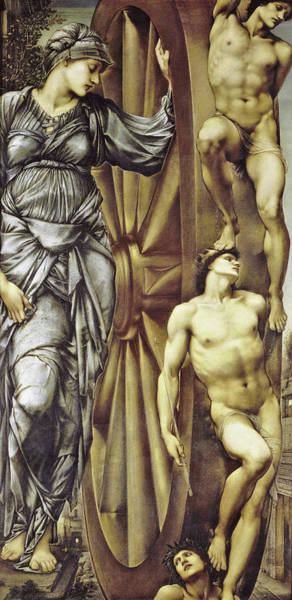 Wall Art - Painting - The Wheel Of Fortune - Digital Remastered Edition by Edward Burne-Jones