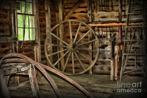 Wall Art - Photograph - The Wheel Wright A Master Craftsman by Paul Ward