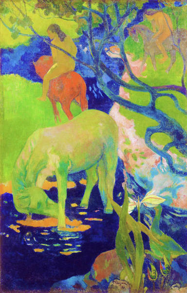 Wall Art - Painting - The White Horse - Digital Remastered Edition by Paul Gauguin